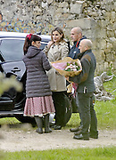 MADRID, SPAIN, 2016, MAY-<br /> <br /> Queen Letizia surprises Penelope Cruz and Jorge Sanz with A fun visit in which the most spontaneous photographs of the Queen with his friends from cinema were captured. Queen Letizia greeted with hugs and kisses to the main characters, coming face to face with the other Queen in fiction, Penelope Cruz. Characterized as their characters, Penelope and Jorge told her the Queen anecdotes of filming and showed the scenarios in which the story unfolds. She loves the Spanish cinema. She laughed a lot, had a good time and gave us a joy to everyone Jorge Sanz told the magazine HELLO! She has a sense of humor and hand some of the good friends she have in the film, she spent a joke: The Queen of Spain in The Queen of Spain, said. This again brings to the big screen Macarena Granada (Penelope Cruz), the artist who in the first part of shooting a film in Germany in a convulsive time in its history (Nazism). Now Macarena returns from the United States to Spain turned into a big star, to film a movie and telling the story of the shooting that made the Americans in our country in the 50s, once the international blockade ended the dictatorship.<br /> ©Exclusivepix Media