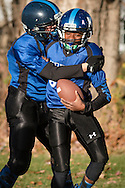 Middletown, New York - Middletown plays Valley Central in an Orange County Youth Football League Division III semifinal playoff game at Watts Park on Nov. 12, 2016.