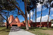 Paula Rego Museum 'Casa das Histórias', Cascais, Portugal. Built of coloured concrete. Architect: Eduardo Souto de Moura, 2009