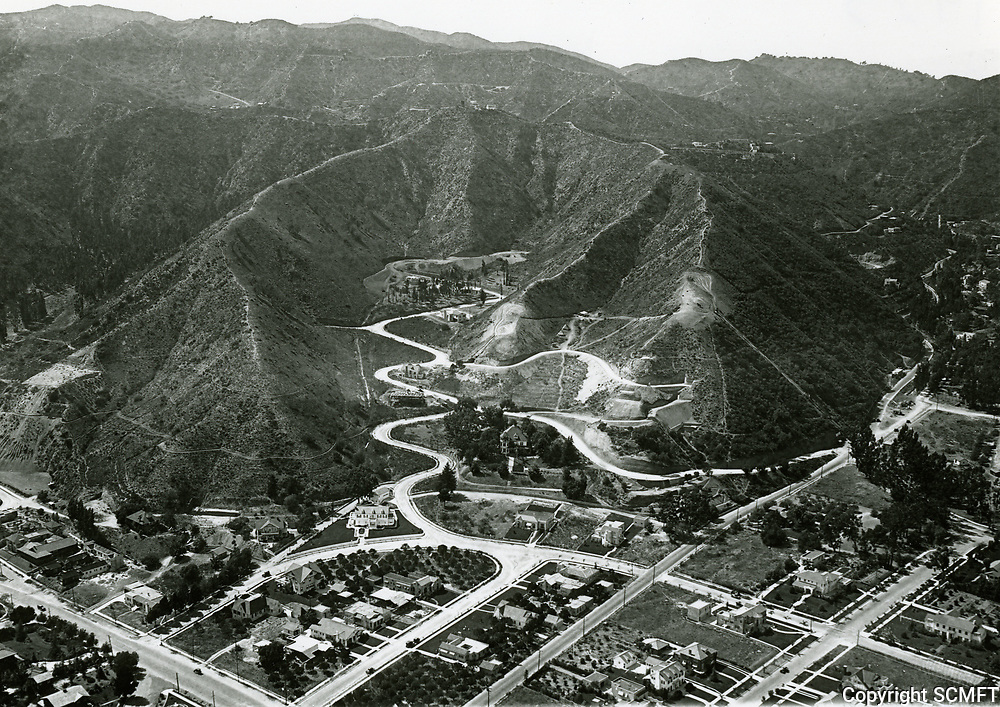 1923 Aerial of Laurel Canyon