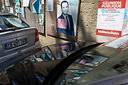 French Socialist party presidential candidate Benoît Hamon poster on 26th May, 2017, in Termes, Languedoc-Rousillon, south of France.