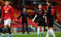 Football - 2020 / 2021 EUFA Europa League - Round of 32 - Second Leg - Manchester United  vs Real Sociedad - Old Trafford<br /> <br /> Imanol Alguacil manager of Real Sociedad at Old Trafford<br /> <br /> Credit COLORSPORT/LYNNE CAMERON