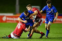 Ion Neculai of Italy in action <br /> <br /> Photographer Craig Thomas/Replay Images<br /> <br /> U20 Six Nations - Wales v Italy  - Friday 31st January 2020 - Stadiwm Zip World (Parc Eirias) - Colwyn Bay<br /> <br /> World Copyright © Replay Images . All rights reserved. info@replayimages.co.uk - http://replayimages.co.uk
