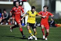 Fotball , 14. februar 2011 , <br />   La Manga <br /> Start - Kalmar<br /> Espen Hoff , Start<br /> Stefan Ålander , Kalmar<br /> Mattias Johansson , Kalmar (th)