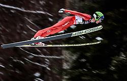 18.01.2018, Heini Klopfer Skiflugschanze, Oberstdorf, GER, FIS Skiflug Weltmeisterschaft, Qualifikation, im Bild Kevin Bickner (USA) // Kevin Bickner of the USA during the Qualification of the FIS Ski Flying World Championships at the Heini-Klopfer Skiflying Hill in Oberstdorf, Germany on 2018/01/187. EXPA Pictures © 2018, PhotoCredit: EXPA/ JFK