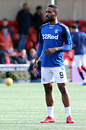 Rangers forward Jermain Defoe (9) in warm up prior to the Ladbrokes Scottish Premiership match between Hamilton Academical FC and Rangers at New Douglas Park, Hamilton, Scotland on 24 February 2019.