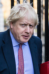 London, December 18 2017. Foreign Secretary Boris Johnson arrives at 10 Downing Street fora meeting of Prime Minister Theresa May's 'Brexit Cabinet'. © Paul Davey