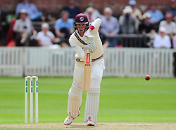 Craig Overton of Somerset defends.  - Mandatory by-line: Alex Davidson/JMP - 05/08/2016 - CRICKET - The Cooper Associates County Ground - Taunton, United Kingdom - Somerset v Durham - County Championship - Day 2