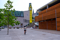 """Place des Canotiers: the new place to relax in Quebec City<br /> <br /> Algonquian people had originally named the area Kébec, meaning """"where the river narrows"""", because the Saint Lawrence River narrows proximate to the promontory of Quebec and its Cape Diamant. <br /> Explorer Samuel de Champlain founded a French settlement here in 1608, and adopted the Algonguin language term. Quebec City is one of the oldest European cities in North America. <br /> The ramparts surrounding Old Quebec are the only fortified city walls remaining in the Americas north of Mexico. <br /> This area was declared a World Heritage Site by UNESCO in 1985 as the """"Historic District of Old Québec""""."""
