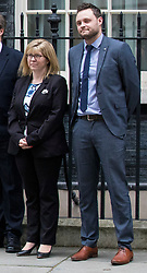 © Licensed to London News Pictures. FILE IMAGE 08/01/2018. London, UK. Conservative Party vice-chairs Maria Caulfield (L) and Ben Bradley (R) outside 10 Downing Street. Maria Caulfield and Ben Bradley have resigned in protest over Theresa May's Chequers Brexit plan. Photo credit: Rob Pinney/LNP