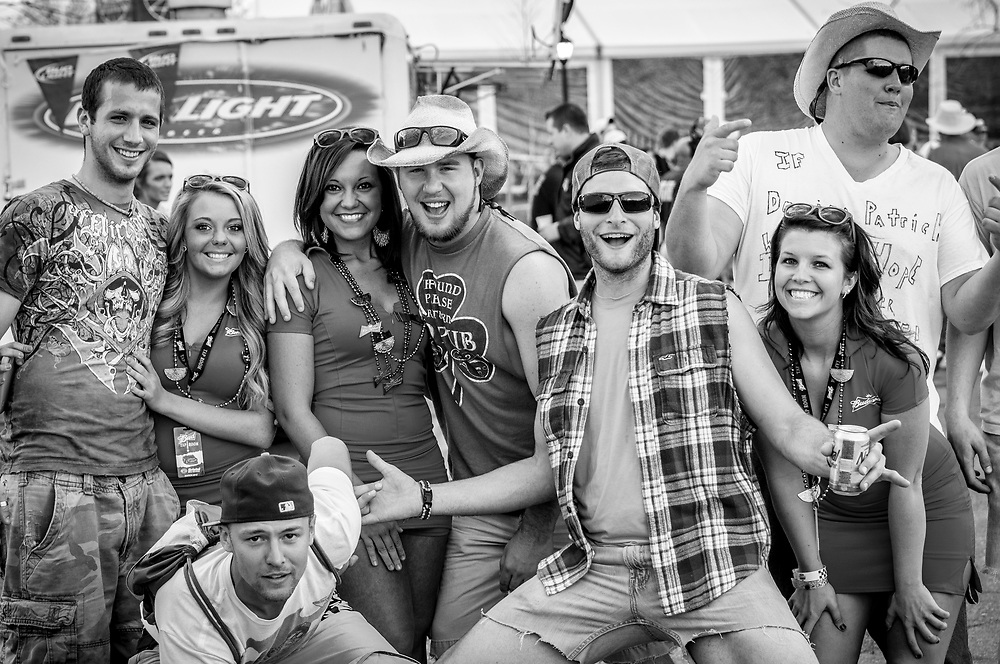 NASCAR fans outside Bristol Motor Speedway in Tennessee on March 17, 2012.