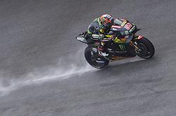 November 3, 2018 - Sepang, Malaysia - Monster Yamaha Tech 3 MotoGP rider Hafizh Syahrin of Malaysia powers the bike during qualifying session of Malaysian Motorcycle Grand Prix at Sepang International Circuit in Sepang, November 3, 2018. (Credit Image: © Zahim Mohd/NurPhoto via ZUMA Press)