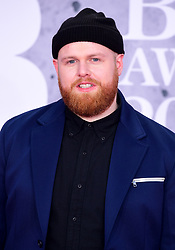 Tom Walker attending the Brit Awards 2019 at the O2 Arena, London.