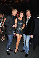Left to right, GARY COCKERILL, LIZZIE CUNDY and PHIL TURNER at the inaugural Gabrielle's Gala in London in aid of Gabrielle's Angel Foundation for Cancer Research held at Battersea Power Station, London on 7th June 2012.