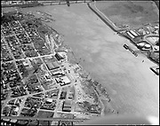 """ackroyd_20415-16. """"City of Portland. aerials. Old Portland Lumber Mill. March 2, 1978"""" (St. Johns south of bridge)"""