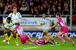 during the first half of the match - Photo mandatory by-line: Rogan Thomson/JMP - Tel: Mobile: 07966 386802 20/10/2012 - SPORT - RUGBY - Sandy Park Stadium - Exeter. Exeter Chiefs v ASM Clermont Auvergne - Heineken Cup Round 2