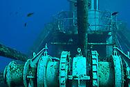 Main stern deck wench, USS Kittiwake