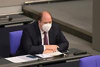 DEU, Deutschland, Germany, Berlin, 29.01.2021:  Kanzleramtsminister Helge Braun (CDU) in der Plenarsitzung im Deutschen Bundestag.