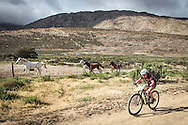 Despite finishing behind the veteran women in the race for outright Ladismith Cheese 7Weekspoort MTB Challenge victory Simone van Aardt was able to claim a credible second position in the senior women's category in the Western Province Marathon Championship's categories, on the 1st October 2016<br /> <br /> Photo by:    /Oakpics/ SPORTZPICS<br /> <br /> <br /> {dem16gst}