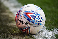 A Mitre match ball  during the EFL Sky Bet Championship match between Brentford and Queens Park Rangers at Griffin Park, London, England on 21 April 2018. Picture by Stephen Wright.