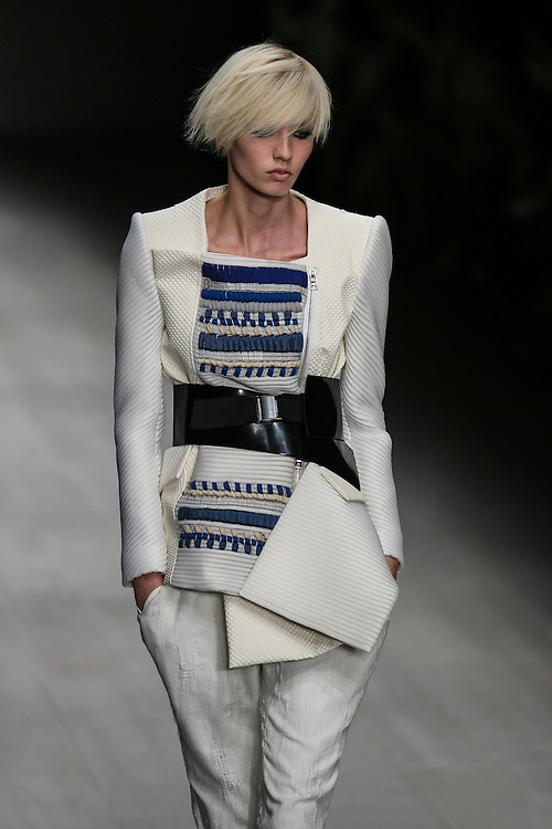 Fashion Fringe Haizhen Wang show during London Fashion Week, Spring/Summer 2013