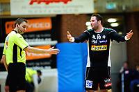 Handball , 30. Januar 2013, Posten-Ligaen , Eliteserien<br /> Haslum - Runar<br /> Kim Johansson irritert på dommer, noen minutter før han ble utvist<br /> Foto: Sjur Stølen , Digitalsport