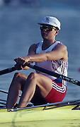 Barcelona, SPAIN.   GBR  W1X, Tish REID 1992 Olympic Rowing Regatta Lake Banyoles, Catalonia [Mandatory Credit Peter Spurrier/ Intersport Images] Last time Men's coxed pair raced at the Olympics