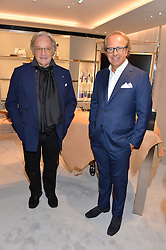 Left to right, DIEGO DELLA VALLE and ANDREA DELLA VALLE at a dinner hosted by Tod's to celebrate the refurbishment of their store 2-5 Old Bond Street, London on 15th September 2016.