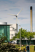 Ecotricity wind turbine at their head office in Green Park, Reading, UK. Ecotricity is the worlds first green electricity company.
