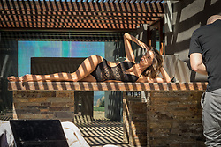 """Alessandra Ambrosio is seen here in behind the scenes photos on the set of the latest LASCANA swimwear and lingerie shoot. The 37-year-old model is captured posing up a storm for the Spring/ Summer 2018 collection, which she took part in after being announced as a new brand ambassador. In an interview to accompany the shoot the mother-of-two — who called off her 10-year engagement to Jamie Mazur back in March — said: """"I think LASCANA's campaign and their philosophy 'it's a woman's world' is about empowering women to feel good and confident to do whatever they want, to follow their dreams and to accomplish them and to be happy. I can definitely identify with this."""" She went on: """"I think we learn from everything that we do. Of course there are things I've done that were wrong but I feel like these things teach you to be the way you want be. """"There are certain things in my life that maybe I wouldn't have done again in retrospect. But I feel like you have to do some things wrong to learn from them. Everyone is human, everyone makes mistakes but those mistakes are what make you learn and make you stronger. """"Life is about learning every day, it's about experiencing things. That's the beauty of life; it's a learning process the whole time."""". 16 May 2018 Pictured: Alessandra Ambrosio in behind the scenes photos from a new campaign for LASCANA after being announced as the brand ambassador for the international Spring/ Summer 2018 collection. Photo credit: LASCANA/ MEGA TheMegaAgency.com +1 888 505 6342"""