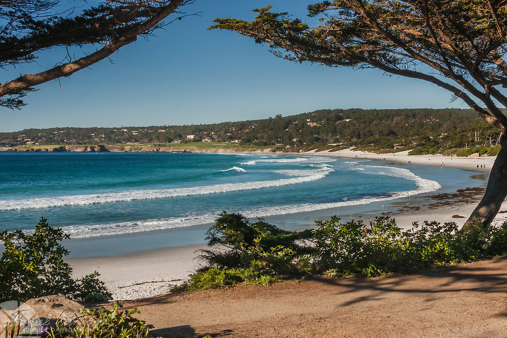 View from the Scenic Drive walking path, Carmel by the Sea, California, near the Monterey Peninsula