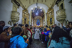 June 14, 2017 - SâO Paulo, São paulo, Brazil - A priest hands out bread rolls to believers at the end of a mass for Santo Antonio (St.Antony) day at the Santo Antonio Convent and Church in São Paulo, Brazil, on June 13, 2017. (Credit Image: © Cris Faga via ZUMA Wire)