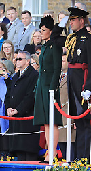 The Duke and Duchess of Cambridge attend the St Patrick's Day parade at Cavalry Barracks in Hounslow.