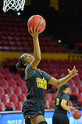 March 17, 2016: Arizona State Sun Devils guard Armani Hawkins (50) gets a layup during the first practice day of the 2016 NCAA Division I Women's Basketball Championship first round in Tempe, Ariz.