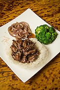 A plate of grilled beef is photographed at Great Mall Mayflower Restaurant in Milpitas, California, on September 11, 2014. (Stan Olszewski/SOSKIphoto)