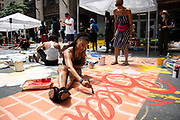 June 9, 2020: Black Lives Matter vigil and street mural in uptown Charlotte NC