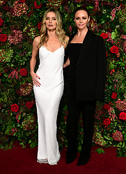 Stella McCartney and Annabelle Wallis (left) attending the Evening Standard Theatre Awards 2018 at the Theatre Royal, Drury Lane in Covent Garden, London.
