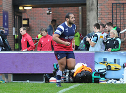Sione Faletau of Bristol Bears United runs-out at Clifton RFC to face Harlequins XV - Mandatory by-line: Paul Knight/JMP - 02/12/2018 - RUGBY - Clifton RFC - Bristol, England - Bristol Bears United v Harlequins - Premiership Rugby Shield