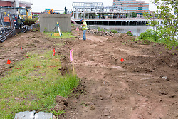Boathouse at Canal Dock Phase II | State Project #92-570/92-674 Construction Progress Photo Documentation No. 11 on 23 May 2017. Image No. 03 Sidewalk Work