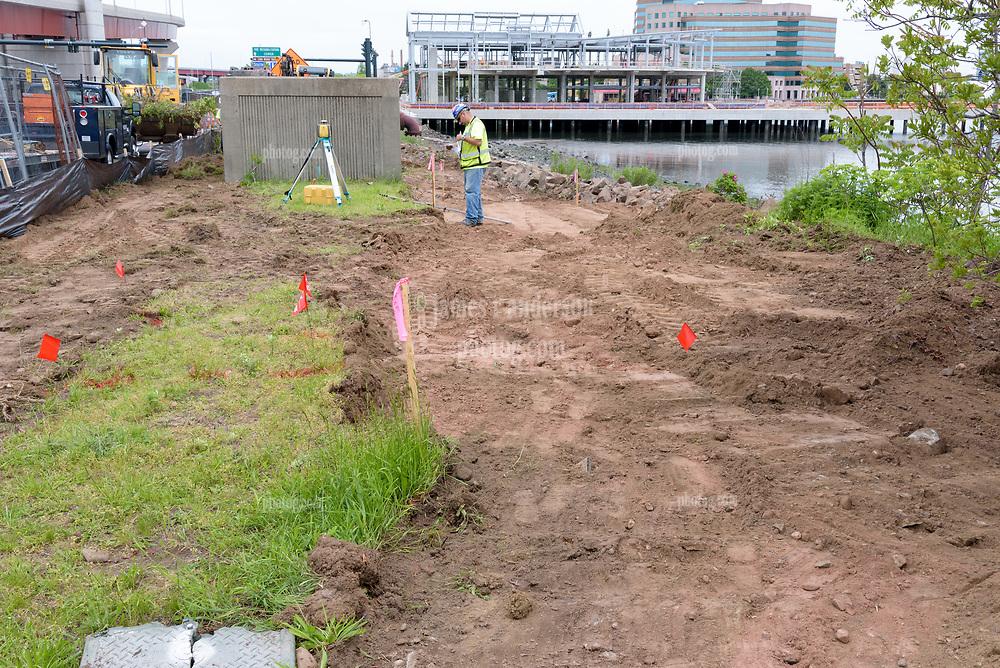 Boathouse at Canal Dock Phase II   State Project #92-570/92-674 Construction Progress Photo Documentation No. 11 on 23 May 2017. Image No. 03 Sidewalk Work