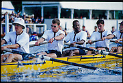 Henley, GREAT BRITAIN,  Men's Eight, Harvard University, USA, competing at 1997 Henley Royal Regatta, Henley Reach, 2-6 July 1997, Henley, ENGLAND [Mandatory Credit, Peter Spurrier/Intersport-images] 1997 Henley Royal Regatta, Henley, Great Britain