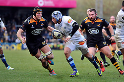 Daniel Kirkpatrick of Castres Olympique in possession - Photo mandatory by-line: Patrick Khachfe/JMP - Mobile: 07966 386802 14/12/2014 - SPORT - RUGBY UNION - High Wycombe - Adams Park - Wasps v Castres Olympique - European Rugby Champions Cup