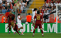 Photo: Glyn Thomas.<br />Portugal v Iran. Group D, FIFA World Cup 2006. 17/06/2006.<br /> Portugal's Deco (L) scores his side's first goal.