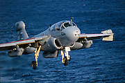 EA-6B Prowler carrier landing