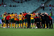 Players of Wales form a huddle during the UEFA Euro 2020, Group A football match between Turkey and Wales on June 16, 2021 at Baku Olympic Stadium in Baku, Azerbaijan - Photo Orange Pictures / ProSportsImages / DPPI