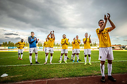 Luka Žinko of Bravo and other players celebrate after the football match between NK Bravo and NK Celje in 13th Round of Prva liga Telekom Slovenije 2019/20, on October 5, 2019 in ZAK stadium, Ljubljana, Slovenia. Photo by Vid Ponikvar / Sportida