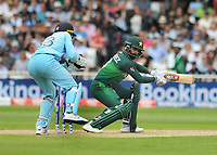 Cricket - 2019 ICC Cricket World Cup - Group Stage: England vs. Pakistan<br /> <br /> Babar Azam of Pakistan watches Jos Butler catch the ball, at Trent Bridge, Nottingham.<br /> <br /> COLORSPORT/ANDREW COWIE