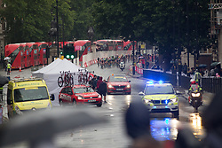 The peloton rides past Downing Street in the ninth lap of the Prudential Ride London Classique - a 66 km road race, starting and finishing in London on July 29, 2017, in London, United Kingdom. (Photo by Balint Hamvas/Velofocus.com)