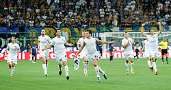 Football: Europa League, Qualifying, Inter Mailand - Hajduk Split, Milan, 09.08.2012.Ivan Vukovic (Hajduk) celebrates.© pixtahlon.ITA AND FRA OUT !