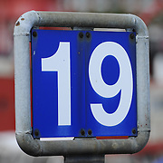 Dock 19 number sign in Hamburg harbor